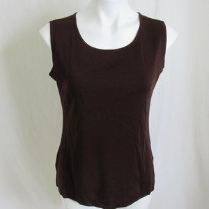Exclusively Misook Brown Tank Top PS